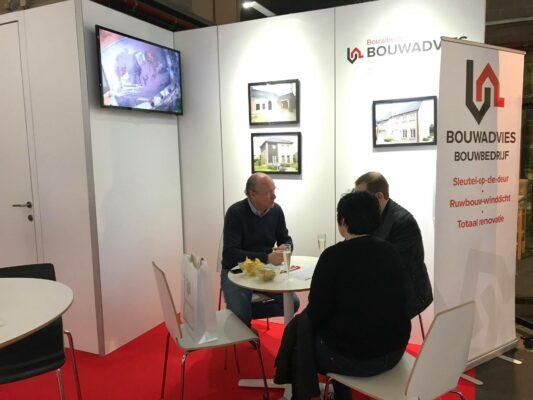 Bouwbedrijf Bouwadvies is elk jaar aanwezig op de beurs Bouw & Reno in Antwerp Expo.